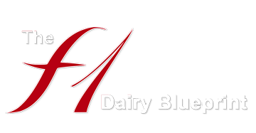 The F1 Dairy Blueprint logo
