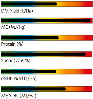 Prosper Grass Seed Mixture chart