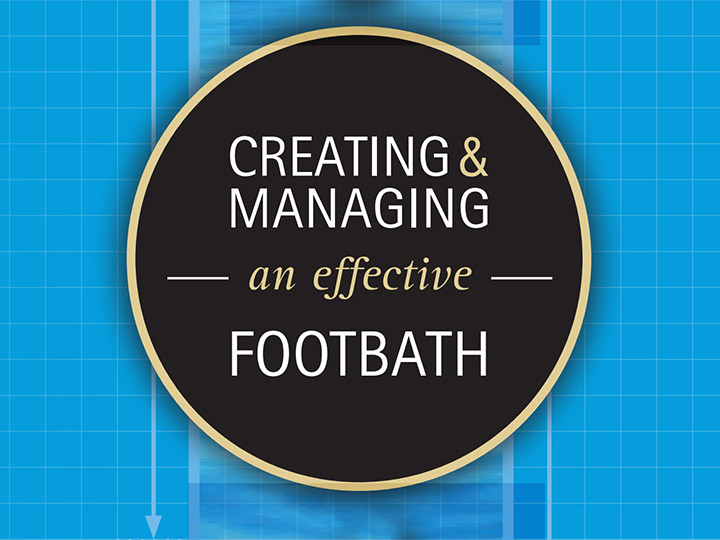 Creating and managing an effective footbath